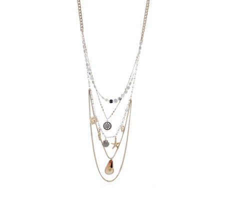 Bibi Bijoux Multi Layer Beachcomber 70cm Necklace