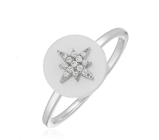 Escape by Melissa Odabash Mother of Pearl Star Ring Sterling Silver