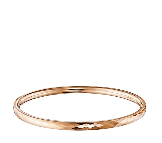 Ceramic Gold 65mm Diamond Cut ID Bangle
