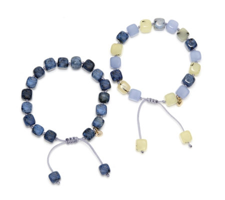 Lola Rose Isabelle Set of Two Semi Precious Bracelets
