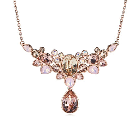 Aurora Swarovski Crystal Floral Burst 50cm Necklace