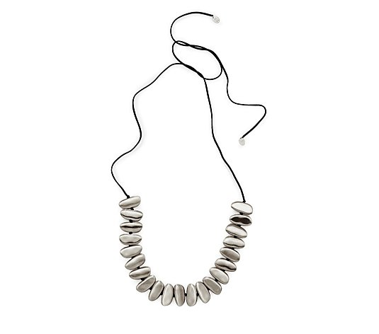 MarlaWynne Brushed Metal Bullet Necklace
