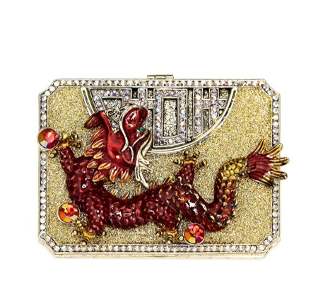 Butler & Wilson Chinese Dragon Compact Mirror