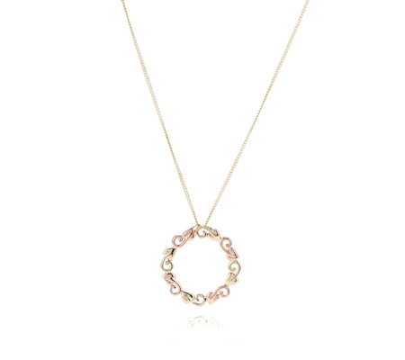 Clogau 9ct Gold Tree of Life Circle Pendant & 45cm Chain