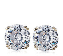 Diamonique 3ct tw 100 Facet Stud Earrings 9ct Gold - 340899