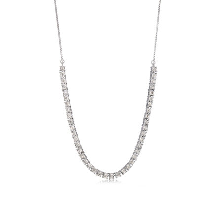 0.20ct Diamond Tennis 50.8cm Necklace Sterling Silver