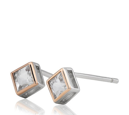 Clogau 9ct Rose Gold & Sterling Silver Welsh Royalty Stud Earrings