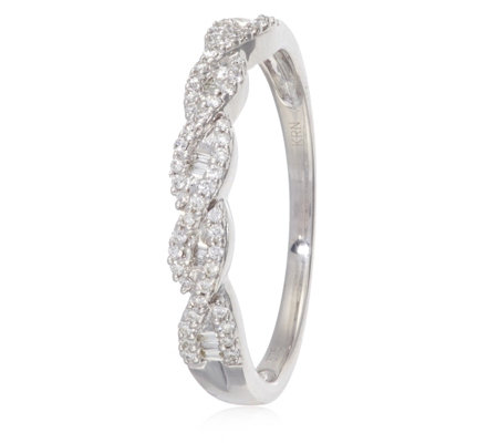 0.20ct Diamond Twisted Band Ring 9ct Gold