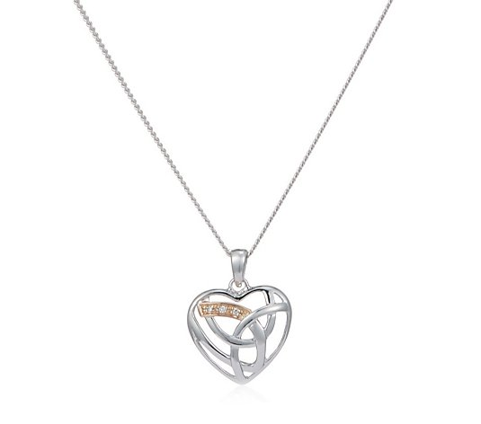 Clogau Eternal Love 56cm Necklace Sterling Silver & 9ct Rose Gold