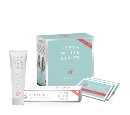 Spotlight 1 hour Express 14 Day Teeth Whitening Strips with Toothpaste
