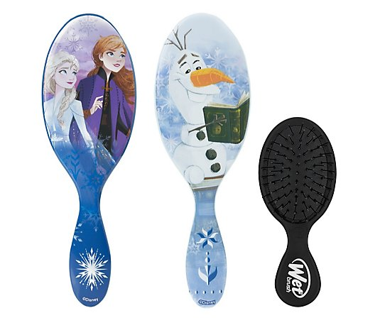 WetBrush 3 Piece Disney Frozen 2 Detangle & Mini Brush Set