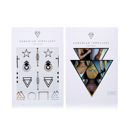 Bohemian Jewellery Tattoos 1x 4 Pack & 1x Single Pack