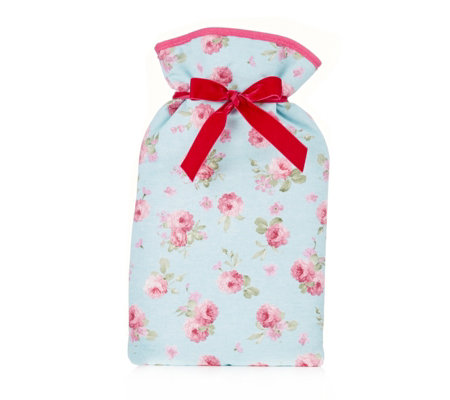 Vagabond Floral Drawstring Design 2 Litre Hot Water Bottle