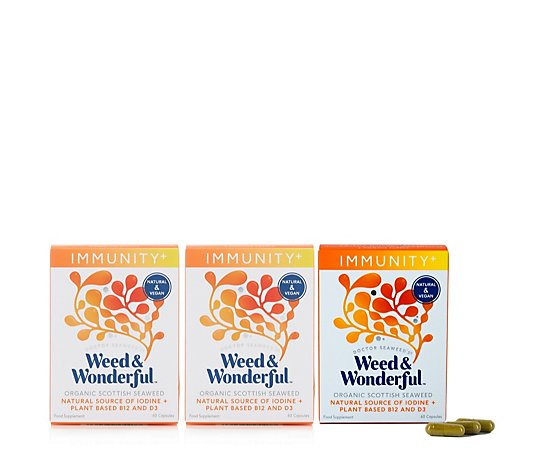 Doctor Seaweed Weed & Wonderful Immunity Support Supplements Trio