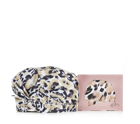 Tili Brushed Leopard Shower Turban