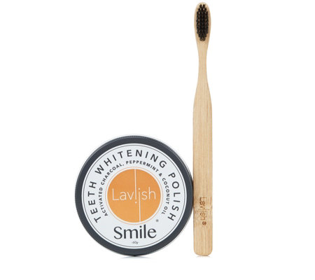 Lavish Teeth Whitening Polish & Toothbrush
