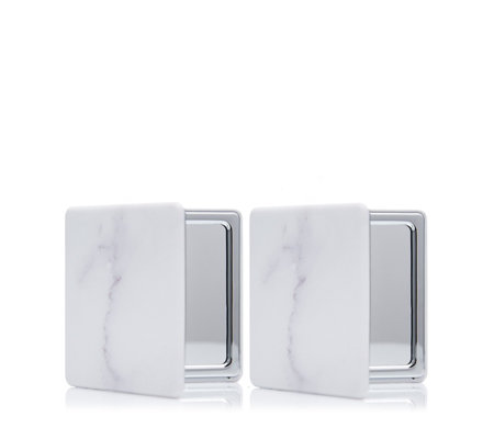 Danielle Creations Set of 2 Marble Compact Mirror
