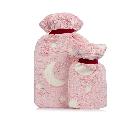 Vagabond 2 Piece Glow in the Dark Hot Water Bottle Set