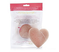 The Konjac Sponge Company Set Of 2 French Clay Heart Face Cleansing Sponges - 401481