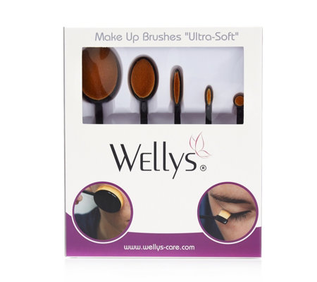Wellys 5 Piece Microfibre Contour Makeup Brush Set