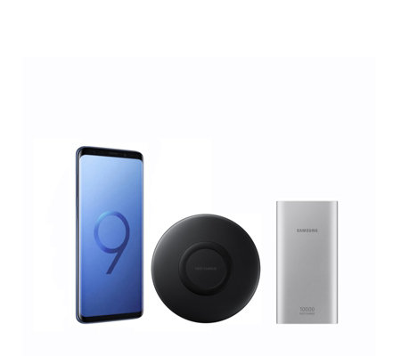 Samsung S9+ 128GB SIM Free Smartphone w/Wireless Charger & Power Bank