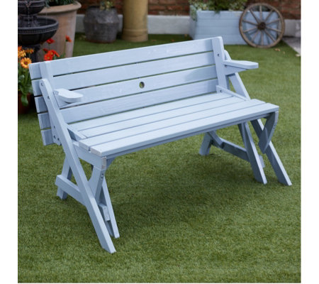 Cool Garden Reflections Outdoor Foldable Table Bench Qvc Uk Inzonedesignstudio Interior Chair Design Inzonedesignstudiocom