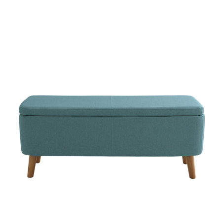 Habitat Jacobs Teal Upholstered Storage Bench