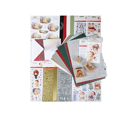 Forever Friends 109 Piece Christmas Card Kit with Decoupage, S
