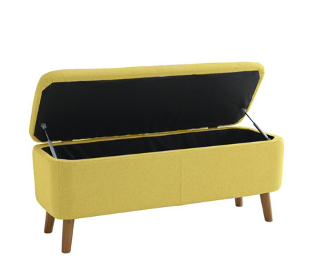 Habitat Jacobs Saffron Yellow Upholstered Storage Bench