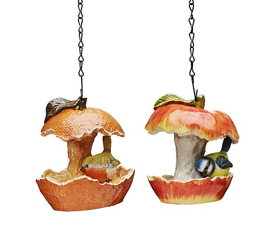 Jennings Bird Feeder Orange & Apple Duo