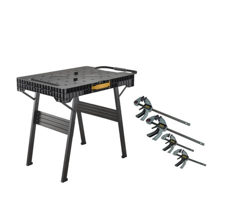 Surprising Stanley Fatmax Express Folding Workbench 4 Trigger Clamps Qvc Uk Camellatalisay Diy Chair Ideas Camellatalisaycom