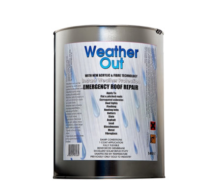 Weather Out Emergency Roof Repair 5kg Tin