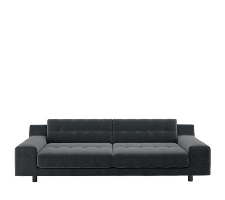 Habitat Hendricks Dark Grey Velvet 4 Seater Sofa