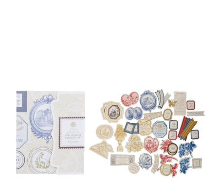 Anna Griffin Set of 72 Toile Embellishments