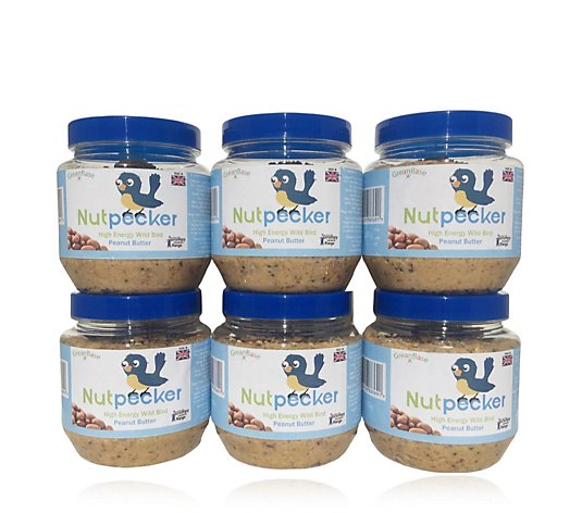 Nut Pecker 6x Peanut Original Peanut Butter Bird Food