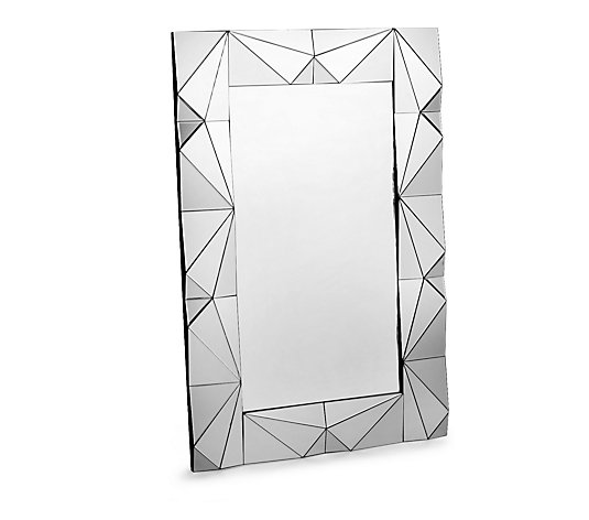 Outlet JM by Julien Macdonald Faceted Rectangular Mirror
