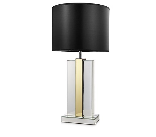 JM by Julien Macdonald Two Toned Lamp with Black Drum Shade