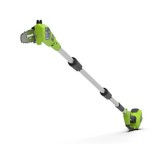 Greenworks 24v 20cm Pole saw inc 1x 2.0ah Battery & Fast Charger