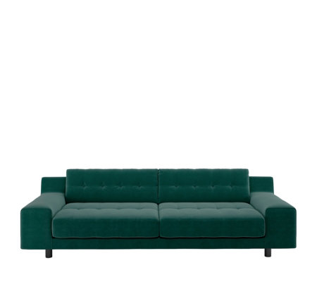 Superb Habitat Hendricks Velvet Emerald 3 Seater Sofa Qvc Uk Caraccident5 Cool Chair Designs And Ideas Caraccident5Info