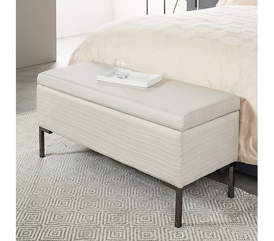 K by Kelly Hoppen Rectangular Ottoman with Storage