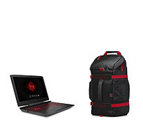 "Omen by HP 15.6"" Gaming Laptop with 128GB SSD, 1TB HDD & Core i5 With Backpack - 512618"