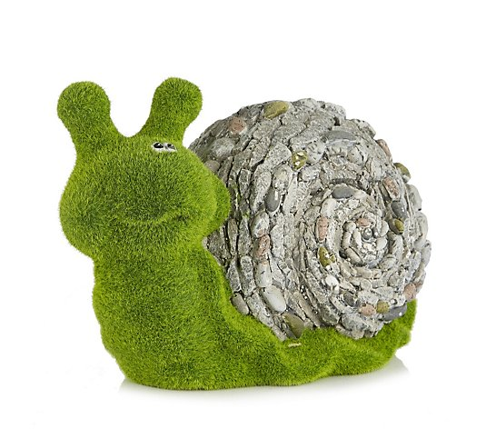 Garden Gear Flocked Effect Snail Garden Ornament