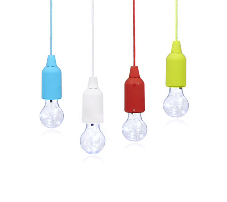 Langdon European Set of 4 Pull Cord Lightbulbs with Remote Control