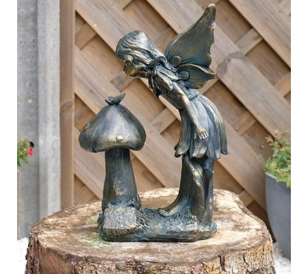 Jennings Bronze Fairies Decorative Garden Ornament