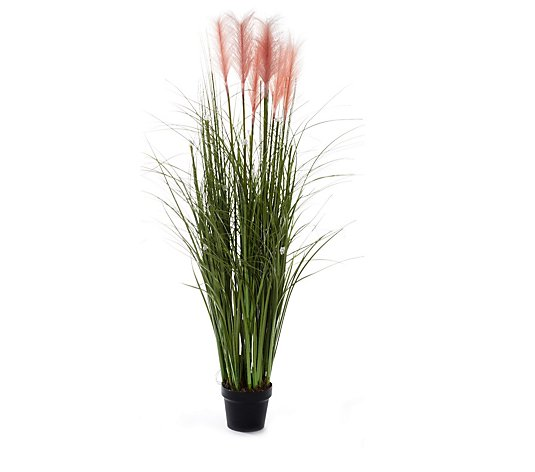 Outdoor LED Illuminated Faux Pampas Grass