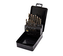 Dandy Tools 15 Piece Multi Purpose  Drill Set with Metal Case - 515328