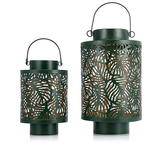Garden Reflections Set of 2 Decorative Lanterns