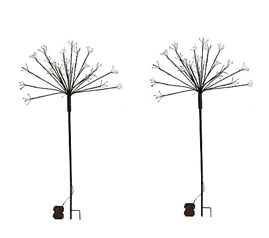 Luxform Battery Operated Set of 2 Twinkling Star Light Stakes