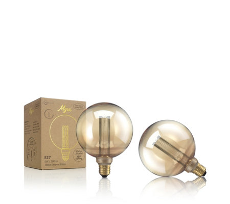 Auraglow Set of 2 Mysa Edison Bulbs