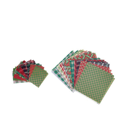Anna Griffin 72 Sheets Christmas Plaid Papers